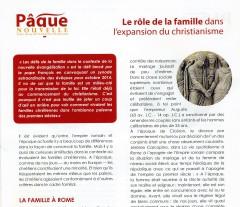 le rôle de la famille dans l'expansion du christianisme
