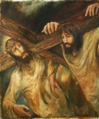 5. Simon of Cyrene carries the cross .jpg
